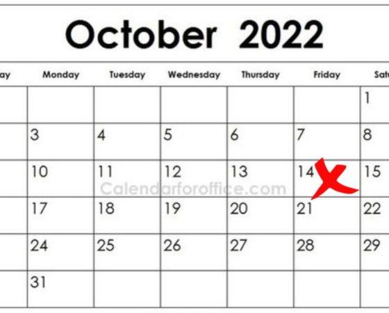 14 Oktober 2022