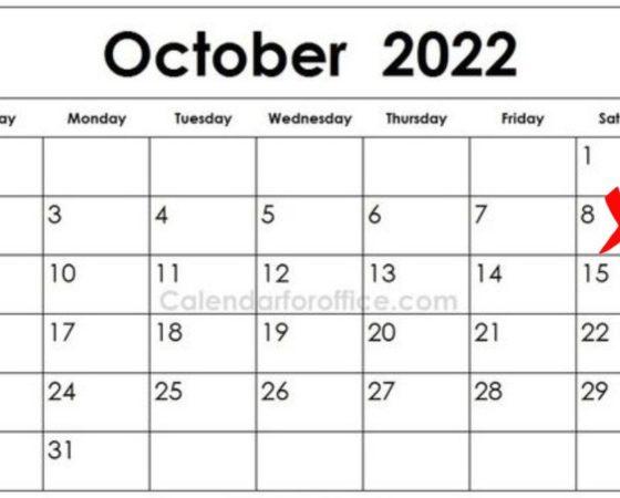 Wat gebeur 8 Oktober 2022?