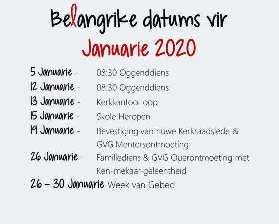 Januarie 2020